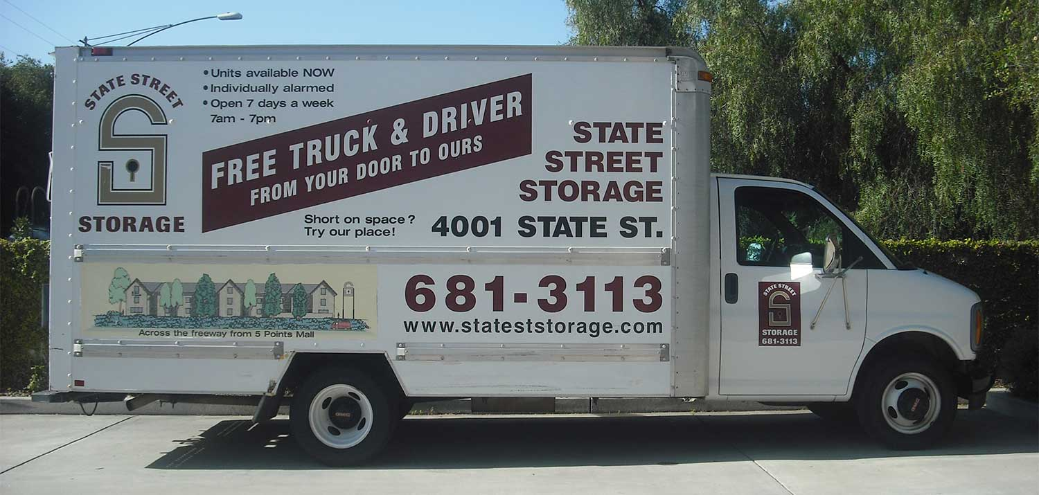 View of the free truck and driver truck